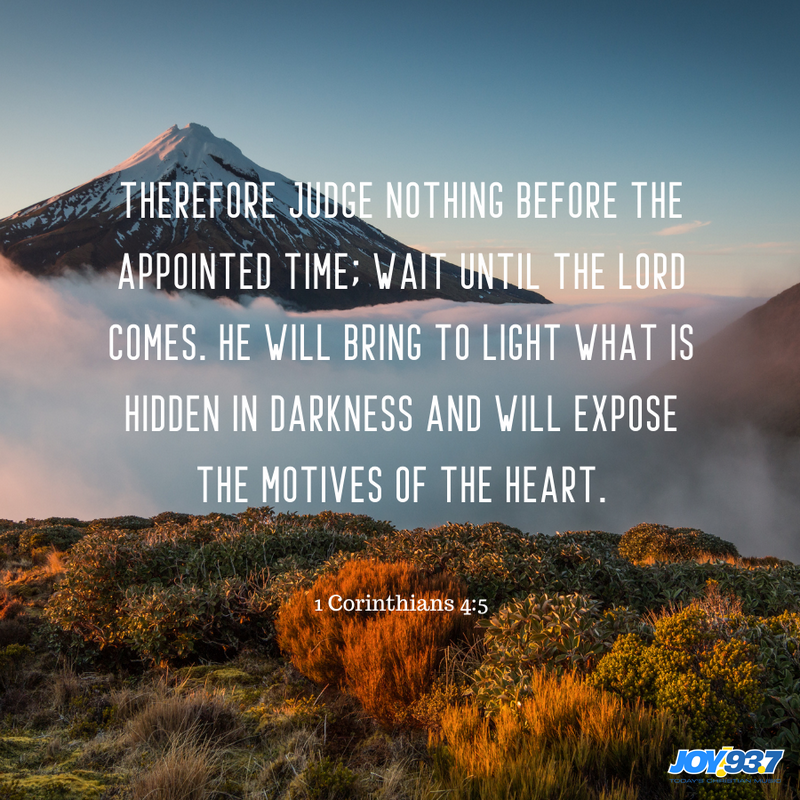 1 Corinthians 4:5