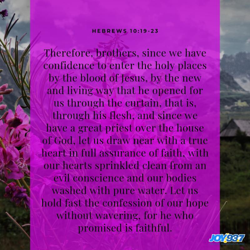 Hebrews 10:19-23